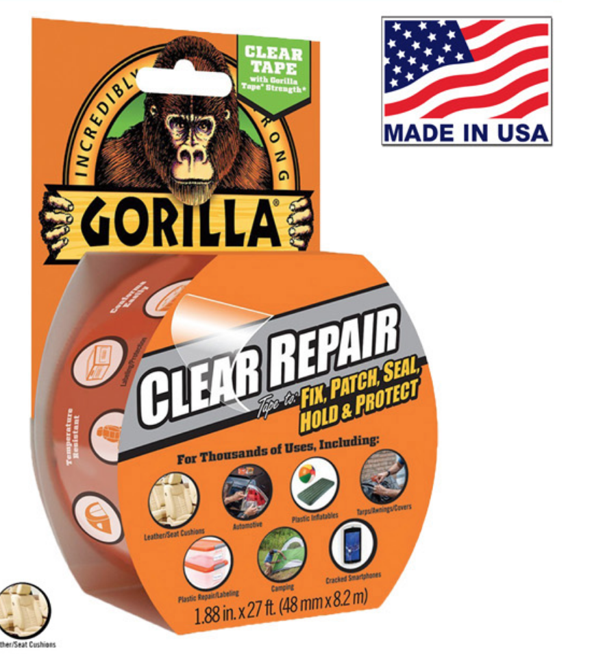 "Gorilla Clear Repair Tape 1.88"" x 27Ft 6027002"