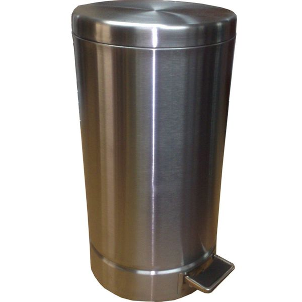 22 Litres Round Stainless Steel Foot Pedal Bin