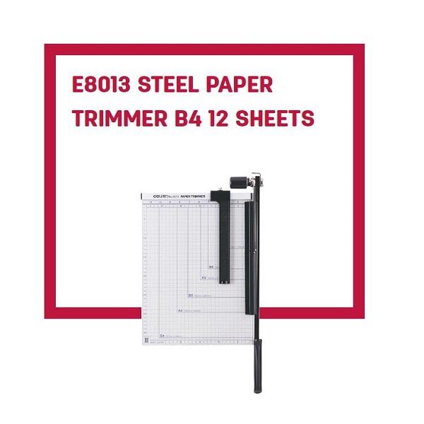 Deli Guillotine Paper Cutter With Meta Base 8013