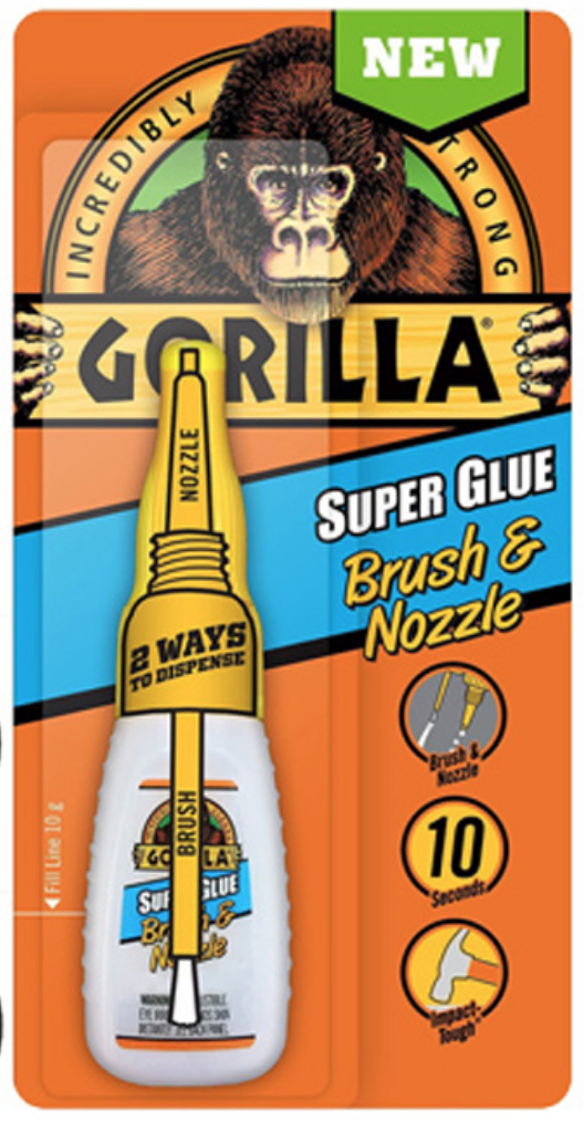Gorilla Super Glue Brush & Nozzle 10 g 7500102