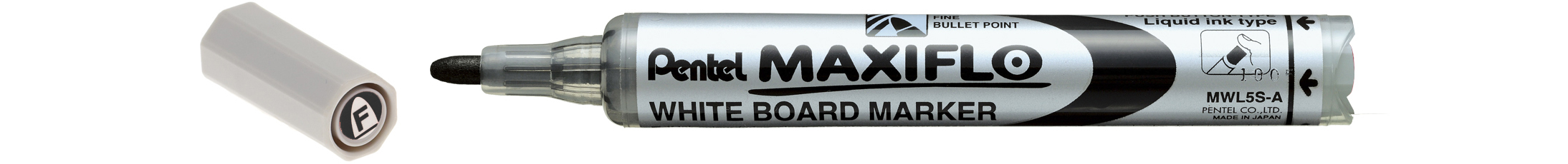 Pentel White Board M.R. Maxiflo Bullet Fine (Pack of 20pcs)
