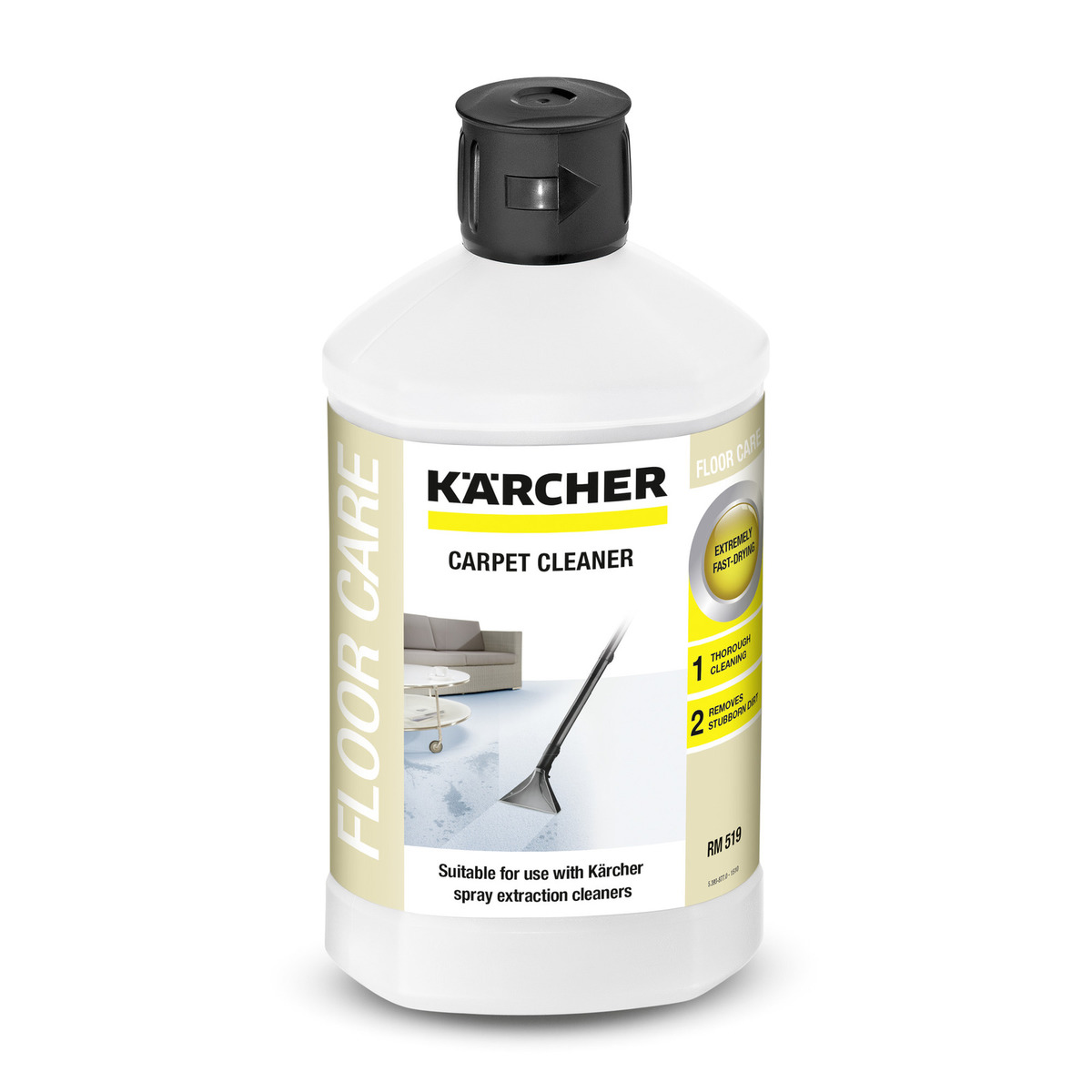 Karcher Indoor Accessories 3 in 1 Spray extraction RM 519 Liquid Carpet Cleaner 1L