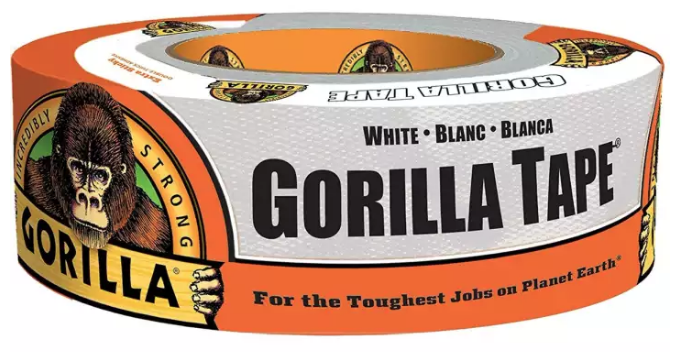 "Gorilla Tape 1.88"" x 30 Yards (White) 6025001"