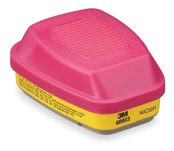 3m Organic Vapor/acid Gas Cartridge/filter 60923, P100 Respiratory Protection (1 Case X 30 Pkts X 2 Pcs)