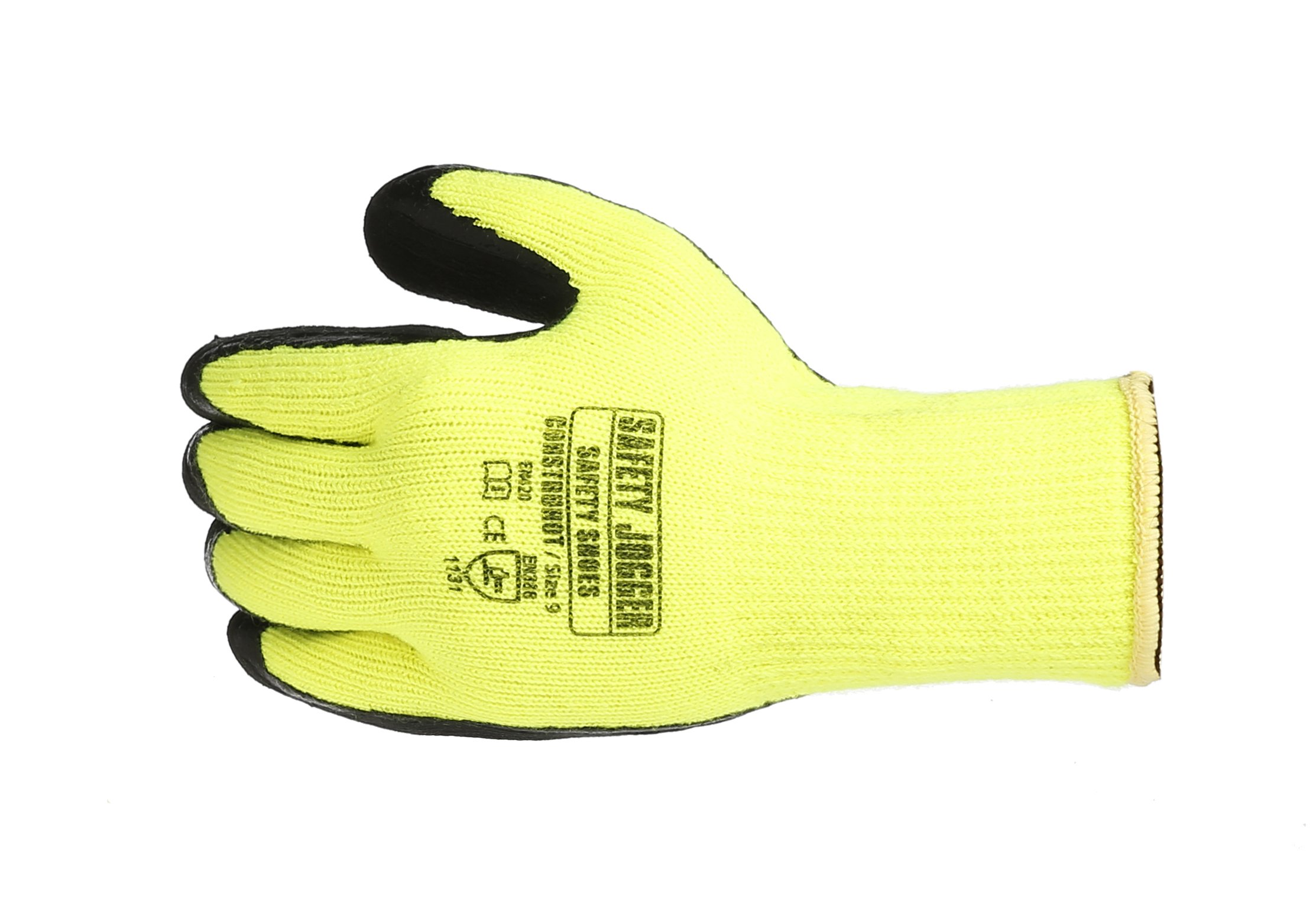 Safety Jogger Hi-vis Yellow Polyester Knit Gloves Construhot (dozen)