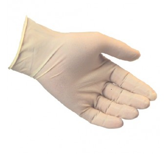 "Accsafe 9"" Powder Free Disposable Latex Glove (box of 100 Pieces)"