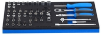 """Unior Set of 1/4"""" Socket Wrenches With Accessories in Sos Tool Tray 964/5SOS"""