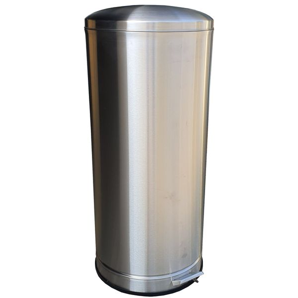 62 Litres Round Stainless Steel Foot Pedal Bin