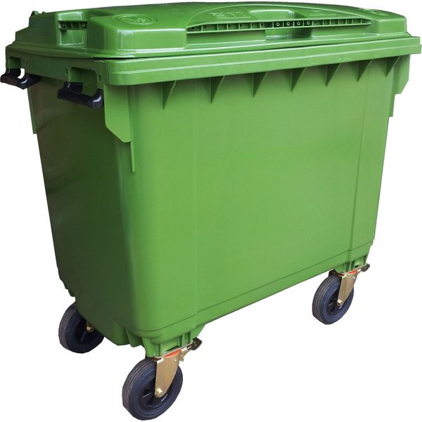 660 Litres 4-wheels High Density Polyethylene Mobile Garbage Bin