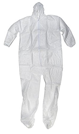 Accsafe Disposable Pp Coverall With Hood White Size L (50pcs/ctn)