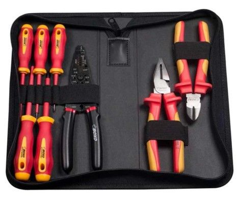 8 Pcs Insulated Vde Tool Set W/ Pouch Bag