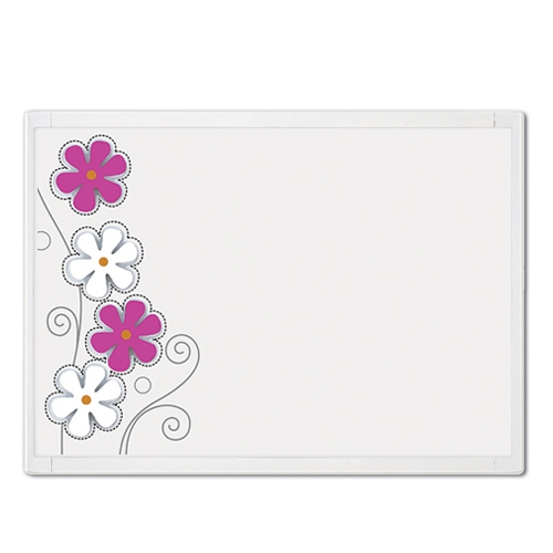 QUARTET White Frame Flower Combination Board