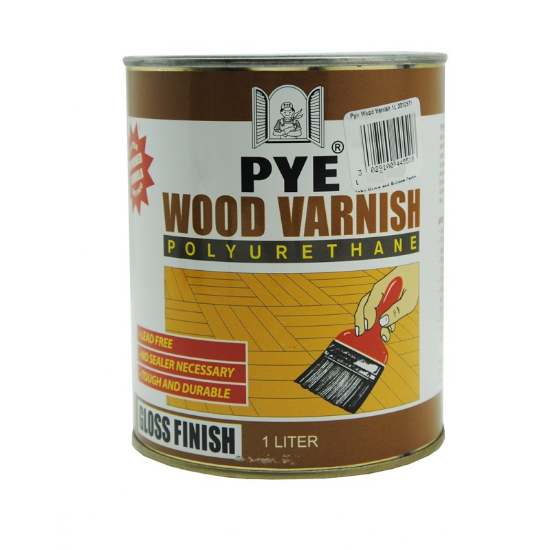 Pye Wood Varnish Polyurethane Varnish Light Brownish