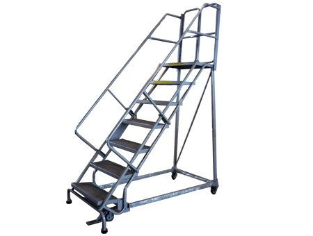 Stocky Steel Step Ladder With Wheel Rl35