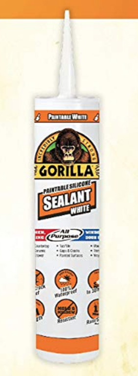Gorilla Paintable Silicone Sealant 9 Oz 64500A