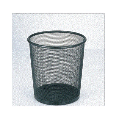 Metal mesh wire waste bin - round