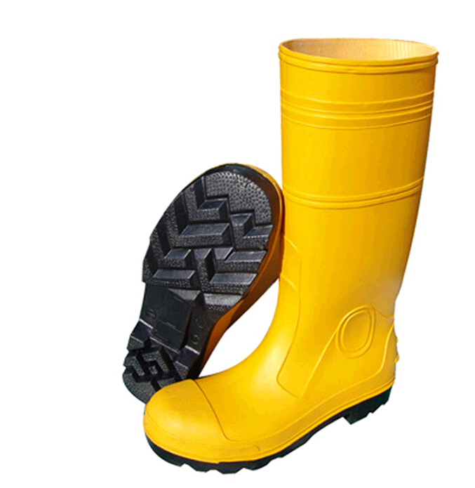 Safety PVC Yellow Boot c/w Steel TOE