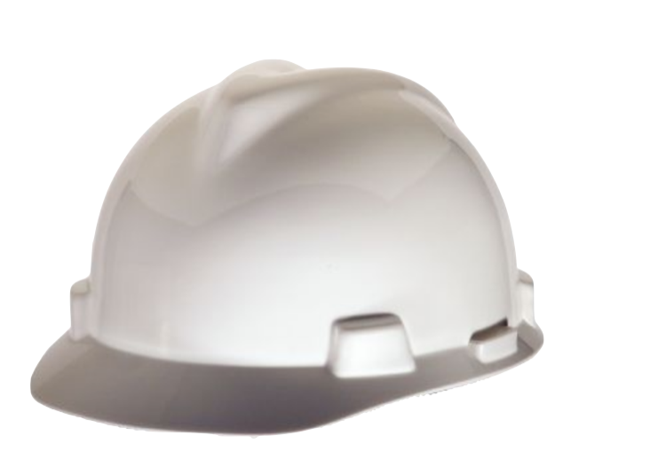 Msa Safety Hard Hat V-gard Fast-trac Suspension White With Chinstrap
