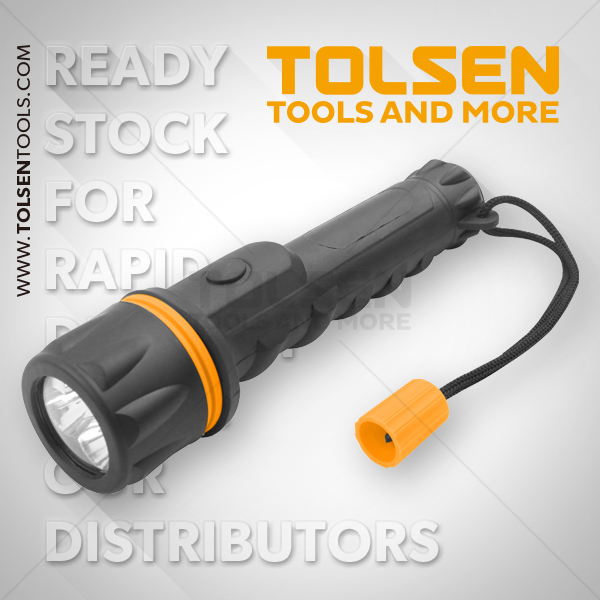Tolsen Clear LED Flashlight 12Lu 60020