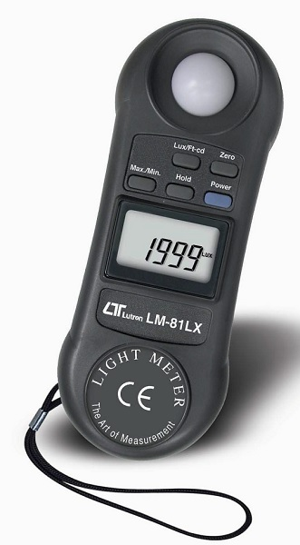 Lutron Pocket Light Meter CD LM-81LX