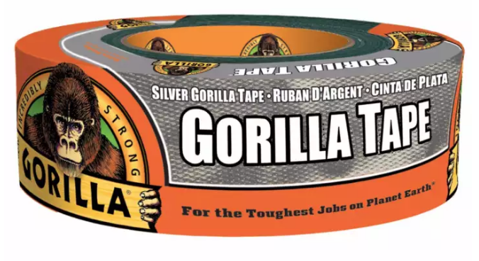 "Gorilla Tape 1.88"" Wide 12 Yard (Silver) 6071202"