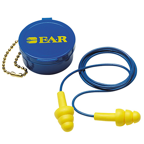 3M Corded Reusable Earplug with Carry Case EAR UltraFit 340-4002 (50 Pairs/Box)