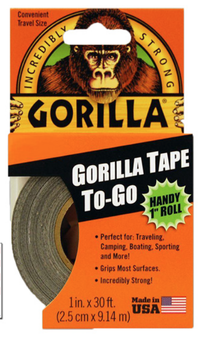 "Gorilla Tape Handy Roll 1""x 30ft 6100105"