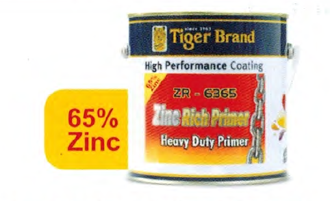 Tiger Brand 2.5L Tiger One Pack Quick Dry Zinc Rich Primer 65% (ZR-6365)