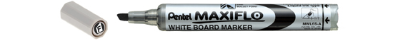 Pentel Whiet Board M.R. Maxiflo Fine Chisel Point (Pack of 20pcs)