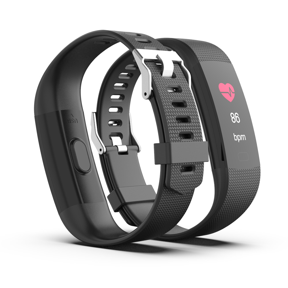Multi-functional LED Smart Bracelet with Heart Rate Monitor
