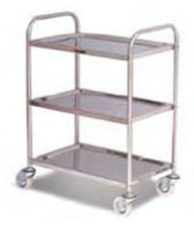 Stocky Stainless Steel Trolley St3/100