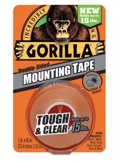"Gorilla 1"" Tough & Clear Mounting Tape 6065003"