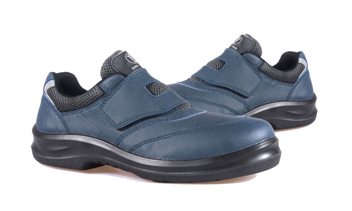 KPR O-Series Non-Metallic Low Cut Blue Velcro Microfiber PU/Rubber Insert Safety Shoes