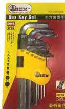 Orex 9Pcs Hex Key Wrench Set (Sae), Cr-Mo Steel ""