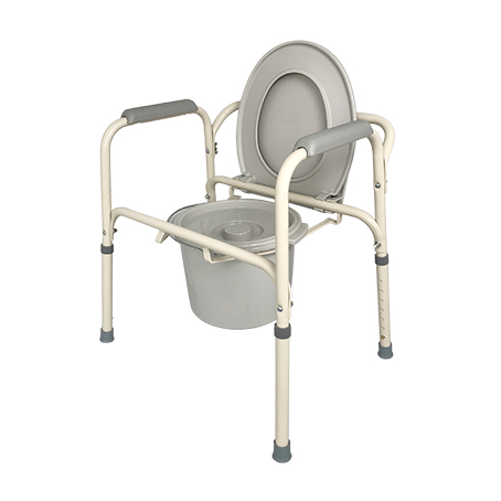 Lifeline Height Adjustable Epoxy Stationary Commode 6820