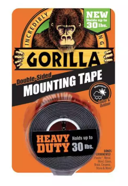 "Gorilla 1"" Heavy Duty Black Mounting Tape 6055002"