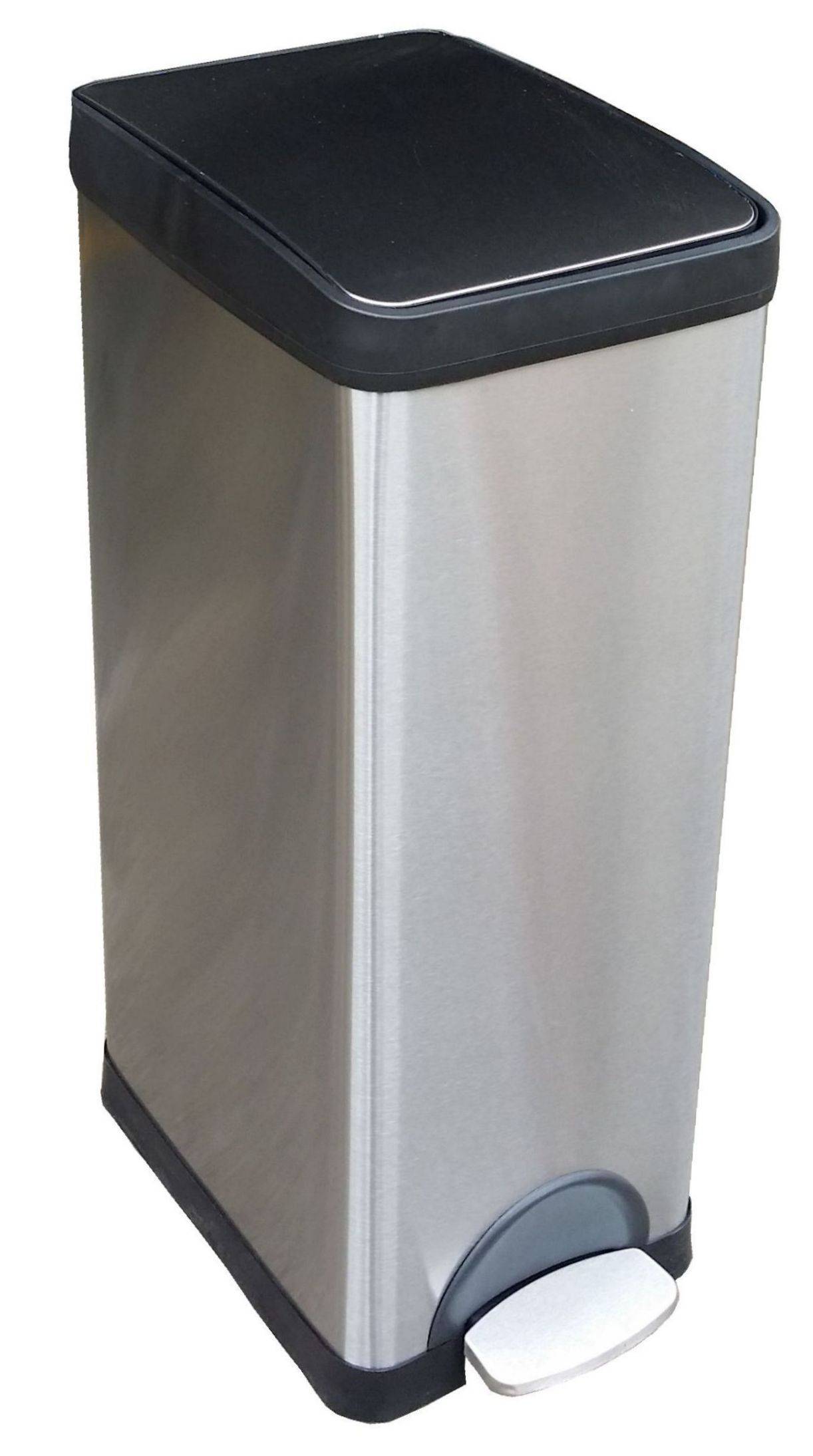 30 Litres Rectangle Stainless Steel Step-on Pedal Bin
