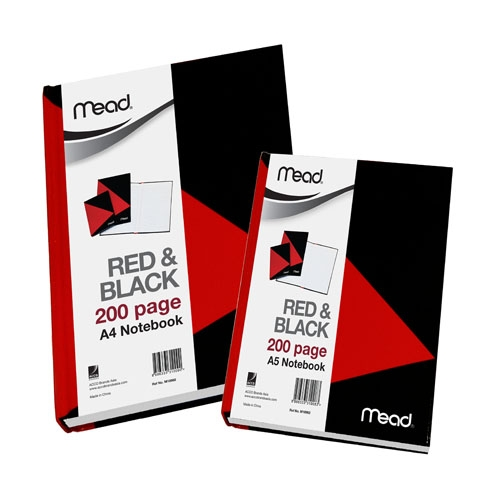 MEAD NOTEBOOKS – RED & BLACK SERIES