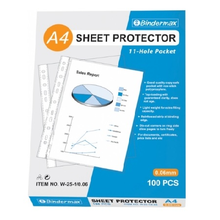 Copy Safe Pocket - Protector Sheet - A4 11 Holes - (11孔透明文件袋)