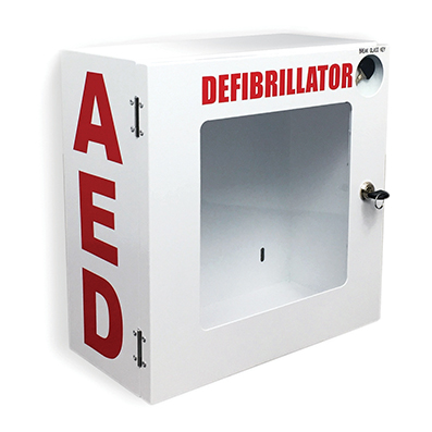 Aed Wall Mount Enclosure (alarm) With Signage & Cpr Poster 2130