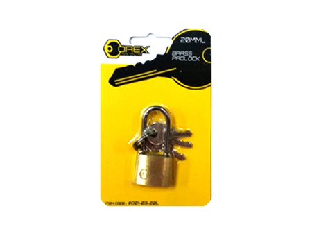 Orex Brass Pad Lock, Long Shackle ( 12pcs/ Pack )