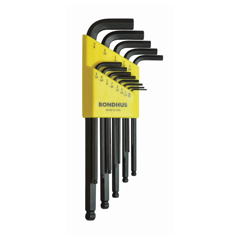 Bondhus 1.27-10mm Ballpoint Hex Key L Wrench (15pcs/Set)