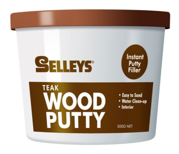 Selleys Wood Putty Teak 500g