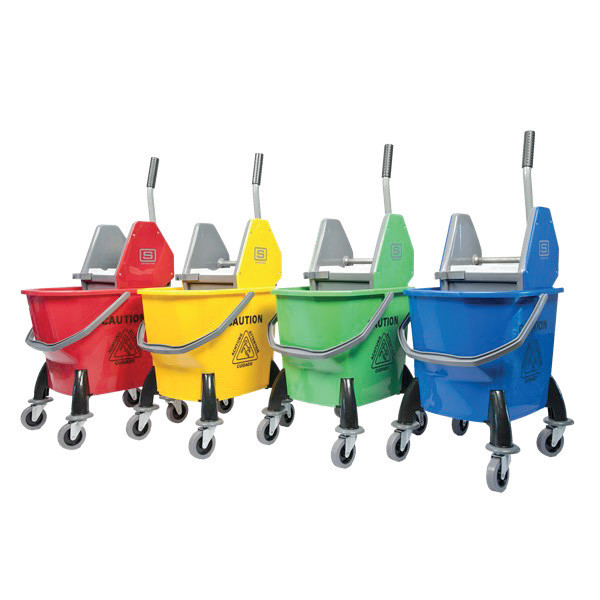 TTS EZY MOP BUCKET W/ DOWNPRESS WRINGER 4032-920002