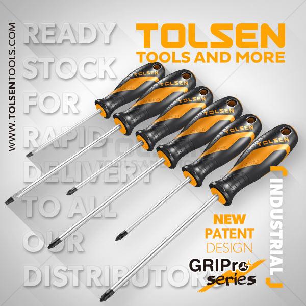 Tolsen Soft Grip Screwdrivr Set (6pcs) 20014