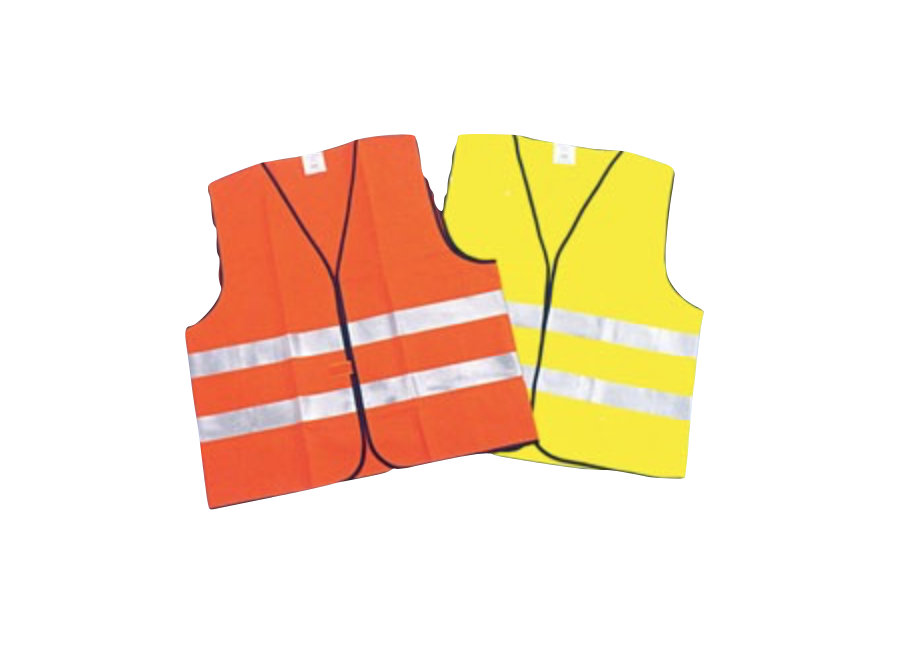 CIG Safety Vest Polyester Knit Velcro W/ Reflective Tape Fluorescent Yellow CIGIT01YL