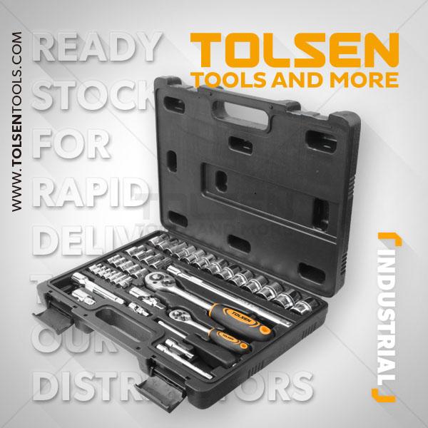 """Tolsen 1/4"""" & 1/2"""" Set (39pcs) 15140"""