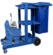 TTS BLUE LEO TROLLEY WITH EZY MOP BUCKET SET (JANITORIAL TROLLEY) B-00256