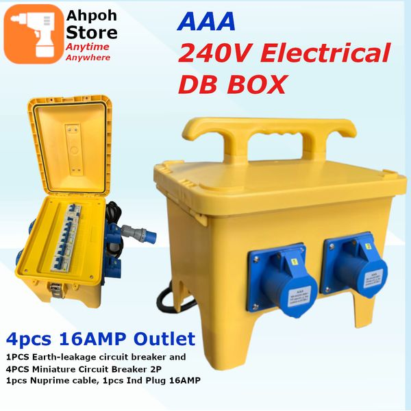 Aaa 240v Db Box 4 Outlet 16amp