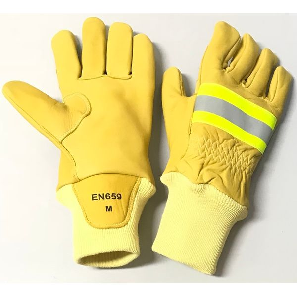 Accsafe Grain Cow Leather Firefighting Gloves 7993